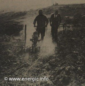 Energic Motobineuse being put through its paces at trial in 1961 www.energic.info