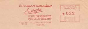 Energic postal marks/Marquages 17/07/1969 www.energic.info