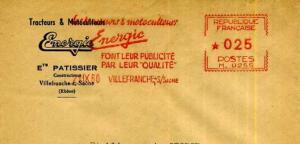 Energic postal marks/Marquages 21/09/1960 www.energic.info