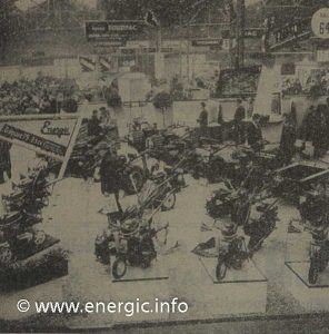 Energic large machine stand show casing motobineuse 75 range may 1960 www.energic.info