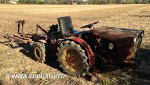 Energic 4RM 35 tractor with cadre/frame with hoes www.energic.info
