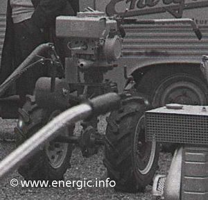 Energic L 54 Motobineuse moteur Bernard transformed into a pulling moteur www.energic.info