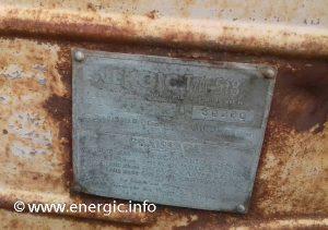Energic 518 tracteur moteur plaque www.energic.info