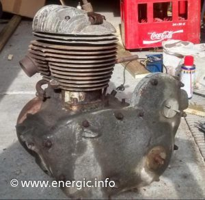 Energic 350cc engine, incomplete www.energic.info