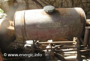 Energic 409/411 motoculteur fuel tank original condition www.energic.info