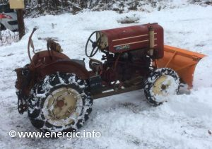 Energic tracteur 511 petrol with snow plough www.energic.info