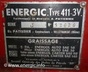 Energic plaque 411 3v www.energic.info