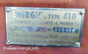 Energic Motoculteur 410 www.energic.info