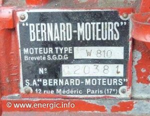 Energic Bernard motor W810 www.energic.info