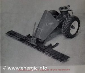Energic Motobineuse Type L 77 transformed into a mototofaucheuse for use on small/medium gardens www.energic.info