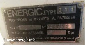 Energic motoculteur 311 moteur plaque www.energic.info
