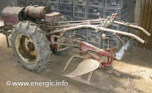 Energic motoculteur 409 + plough. www.energic.info