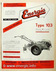 Energic motoculteur 103 www.energic.info