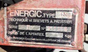 Energic 130 motoculteur bernard 239A. www.energic.info