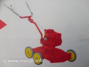 Energic Rubis using a Briggs & Stratton moteur adapted/transformed into a lawn mower/tondeuse