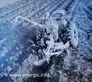 Energic motoculteur 103 with 1/4 turn brabant plow. energic.info