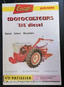Energic 318 motorulteur diesel brochure. energic.info