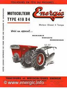 Energic motoculteur 410 D4. www.energic.info