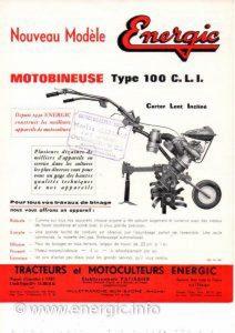 Energic Motobineuse 100 CLI. www.energic.info