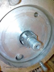 Energic inner wheel disc and wheel clutch  pin hole and pin. www.energic.info