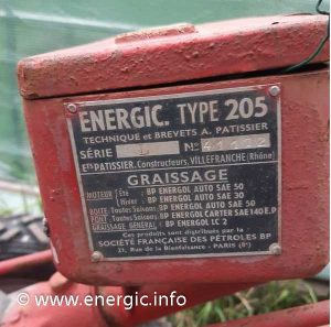 Energic mtoculteur 205. www.energic.info