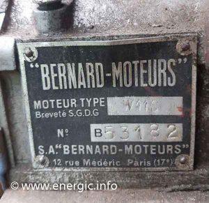Energic motoculteur moteur Bernard 110  www.energic.info