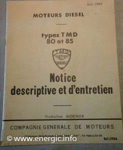 Indenor TMD brochures/entretien. www.energic.info